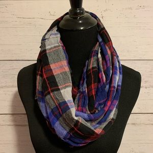 Accessories - Multicolored plaid infinity scarf